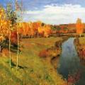 Золотая осень Левитан
