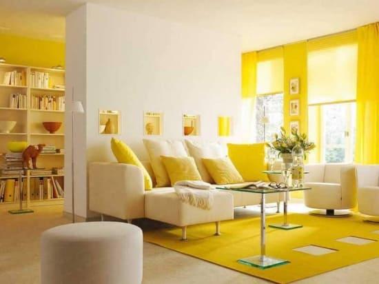 Желтый цвет в интерьере, влияние на человека