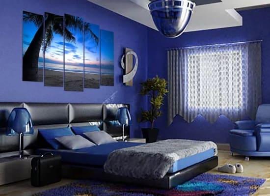 Влияние синего цвета стен на человека