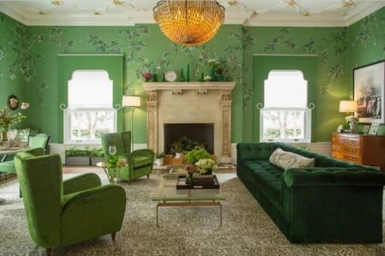 Как зелёный цвет влияет на человека в интерьере