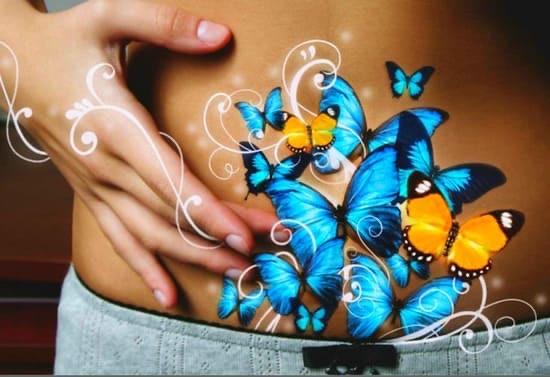 Бабочки порхают в животе