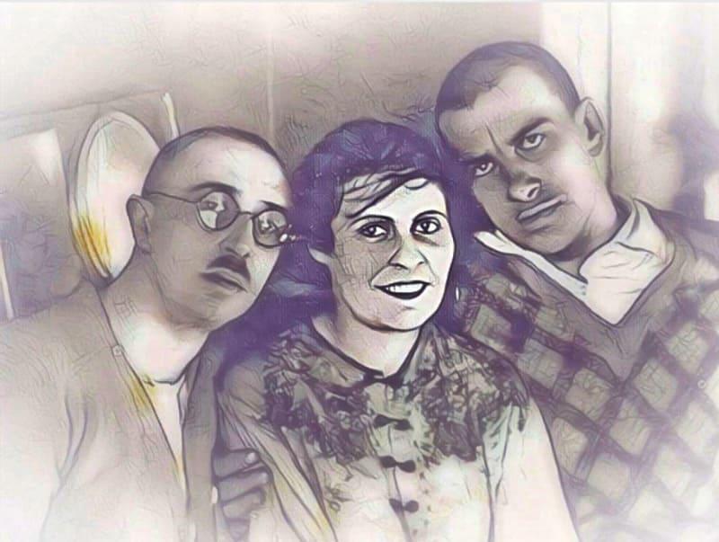 Маяковский, Лилия Брик и её супруг Осип